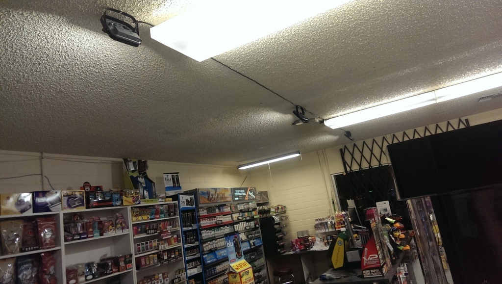 These spotlights illuminate the area behind the counter. It's so much brighter now!