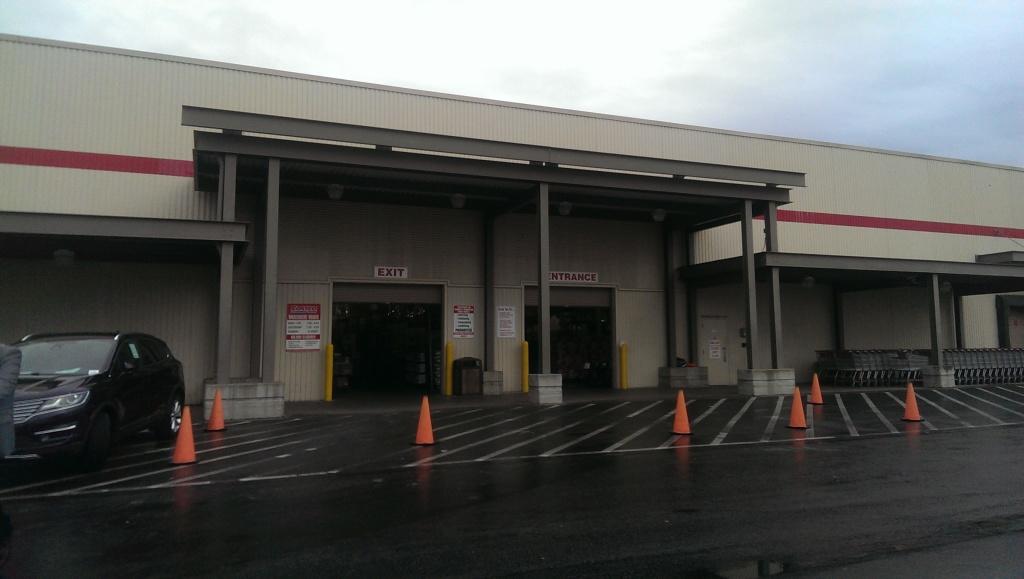 Costco's entrance.
